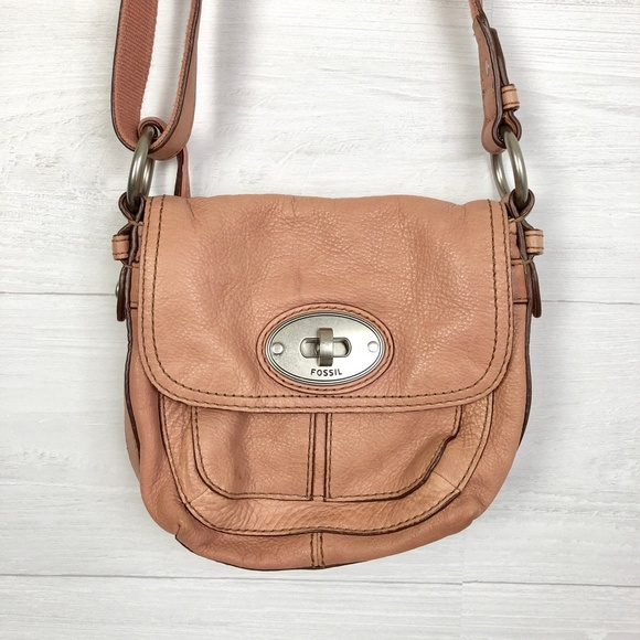Fossil Handbags - Fossil Small Leather Purse Pink Peach